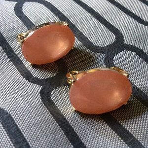 JJG Peach Coral Clip On Earrings